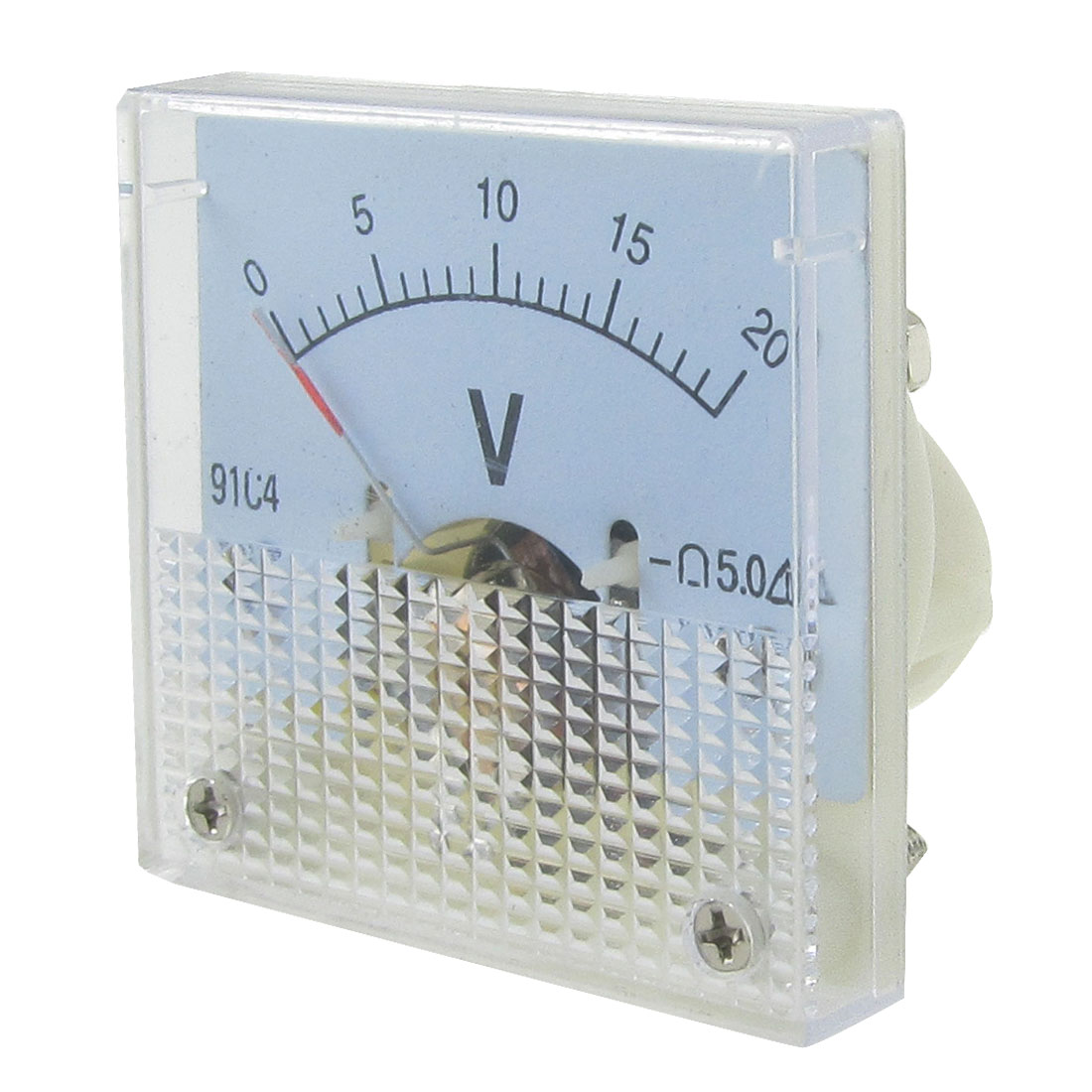 DC 0- 20V 44.5x44.5mm Panel Volt Analog Gauge Voltage Meter Class 5.0