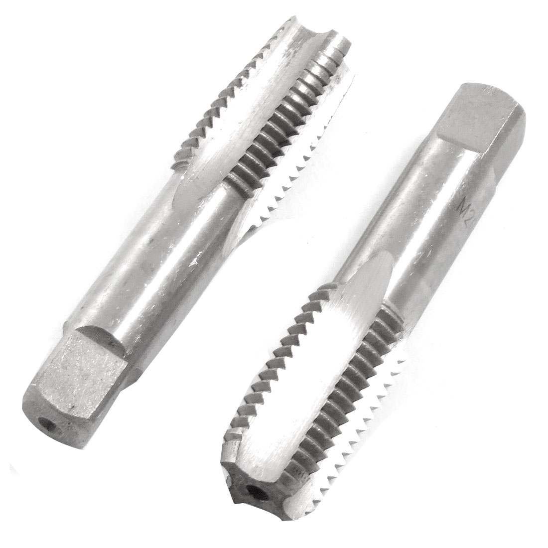2 Pcs Square Head HSS M20 4 Flutes Hand Screw Thread Metric Taps