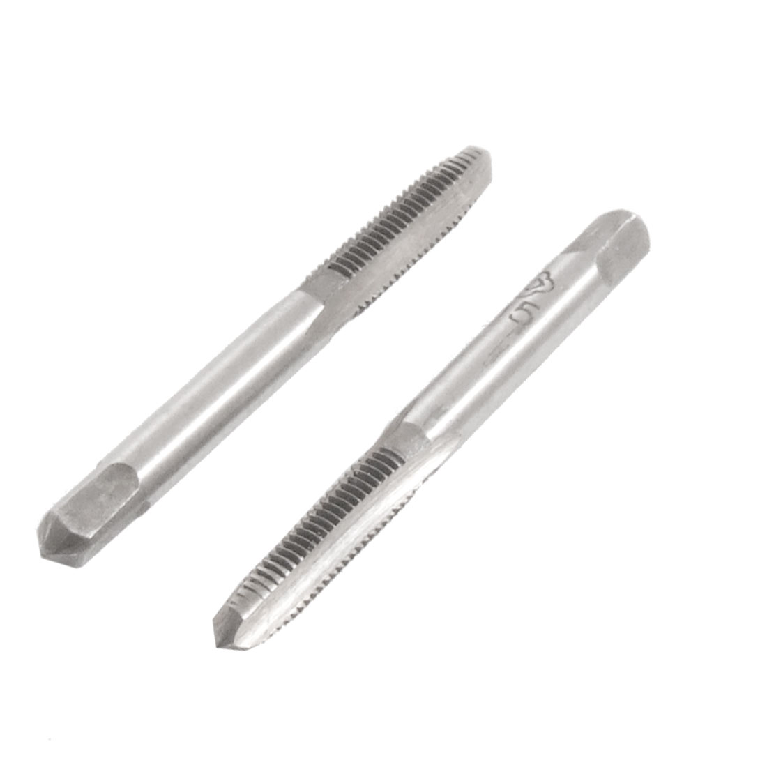 2 Pcs Square Head HSS M5 3 Flutes Hand Screw Thread Metric Taps
