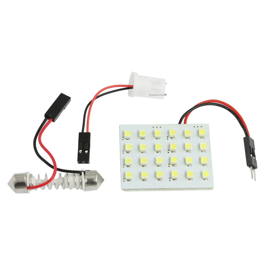 Auto Car 24 1206 SMD White LED Light Bulb Lamp Panel T10 Festoon Box Dome Bulb
