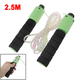 2.5M Green Black Handle Resettable Fitness Skipping Jumping Rope
