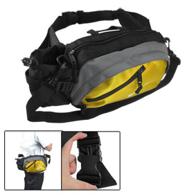 Yellow Zip Up Quick Release Hook Multifuction Waist Bag Pack