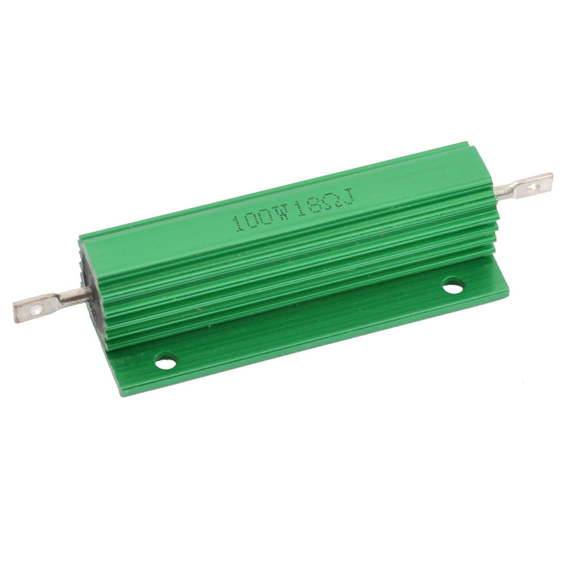 Chassis Mounted 100W Watt 18 Ohm Aluminum Shell Wirewound Power Resistor