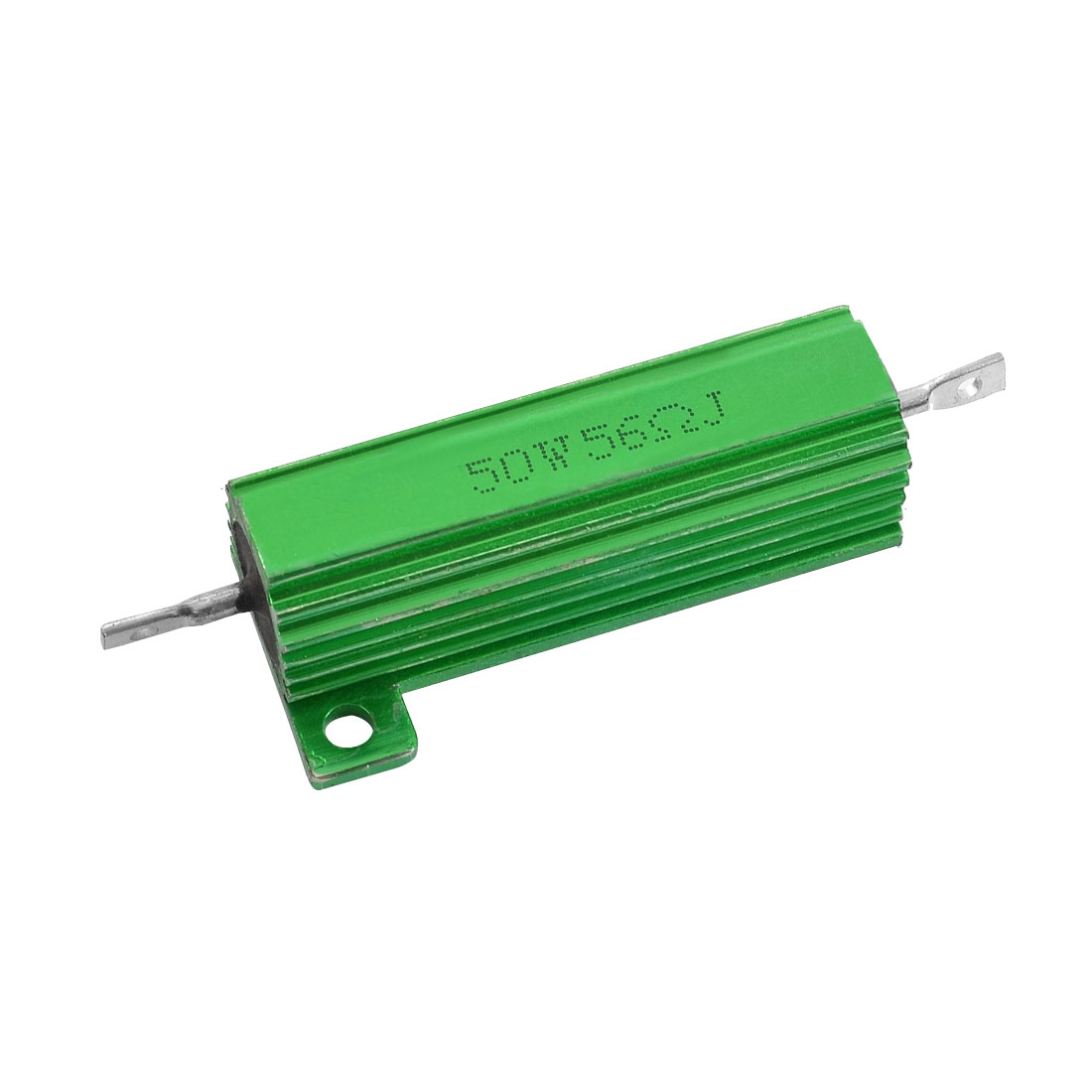 50W 56 Ohm 5% Chassis Mounted Aluminum Case Wirewound Resistor Green