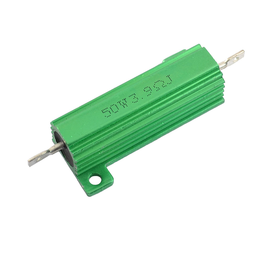 50W 3.9 Ohm 5% Chassis Mounted Aluminum Case Wirewound Resistor Green