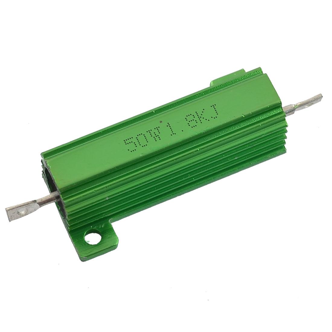 50W Watt 1.8K Ohm 5% Aluminum Casing Wirewound Resistor