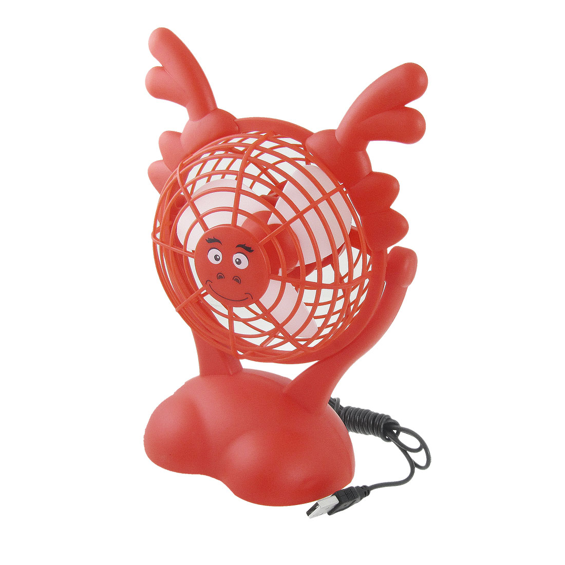 Red USB Batteries Powered Flexible Dragon Head Foam Paddles Fan