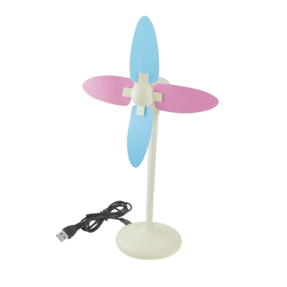 USB Batteries Powered DIY Assembly Foam Paddle Fan White