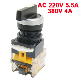 LA38-20CX3 ON/OFF/ON Three 3 Position Rotary Select Selector Switch Long Handle