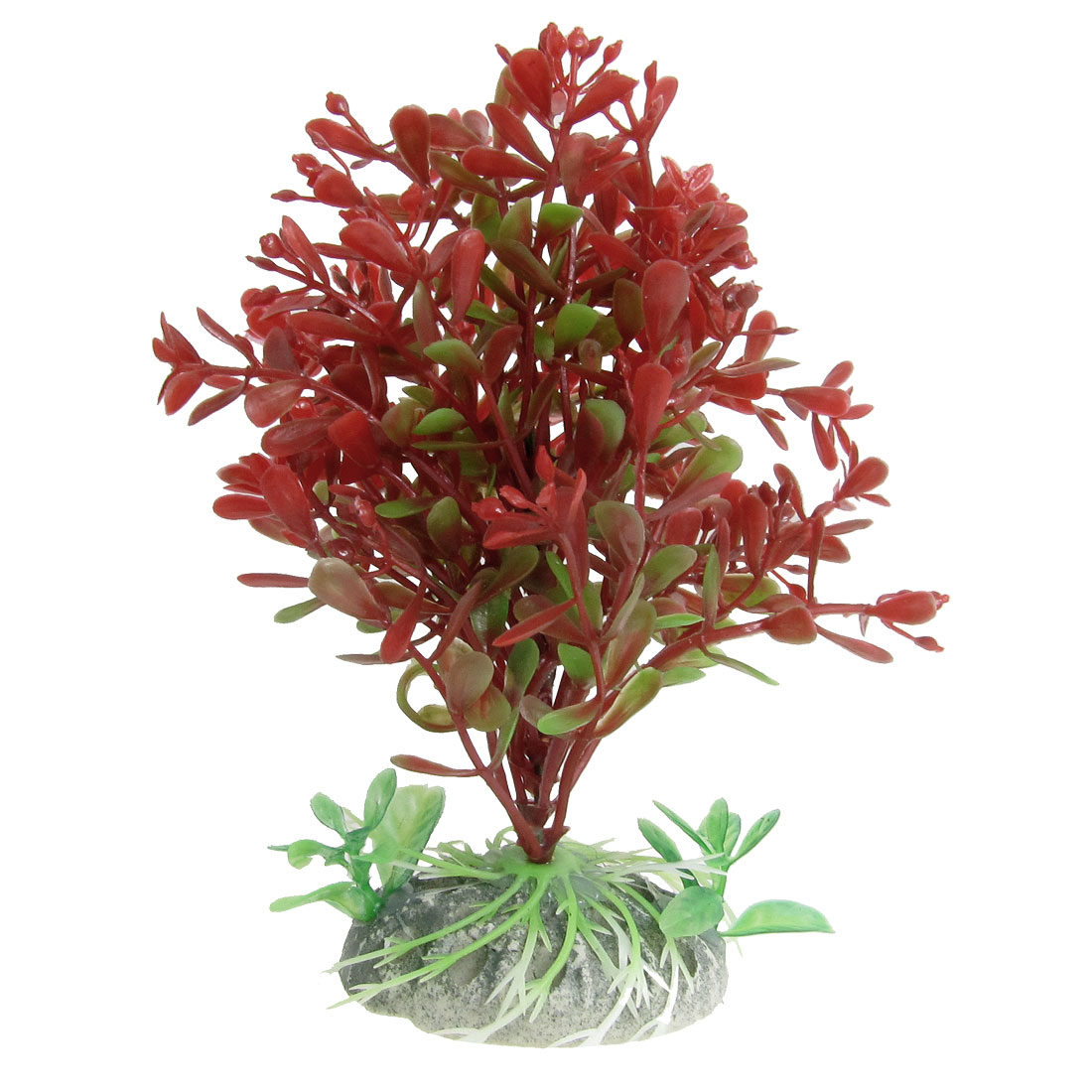 "5.1"" Height Red Green Plastic Plant Decoration for Aquarium"