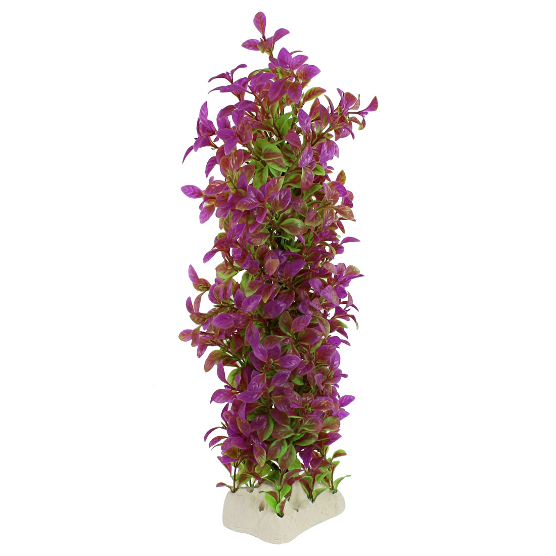 "Fuchsia Green Plastic Aquascaping Plant Decor 16.5"" High for Aquarium"