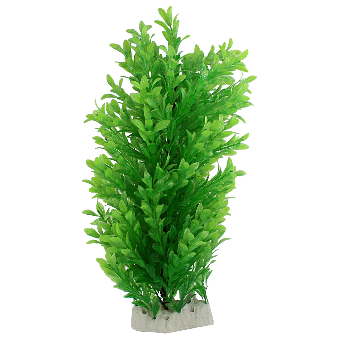 "Green 17.3"" High Artifical Plastic Aquatic Plants Aquarium Tank Ornament"