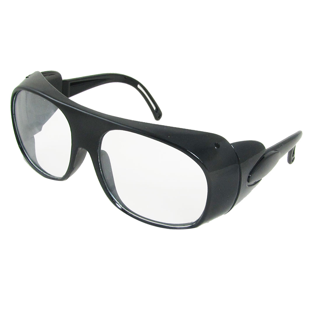 Clear Black Full Frame Hollow Out Arms Clear Lens Welding Eyeglasses Tyufj