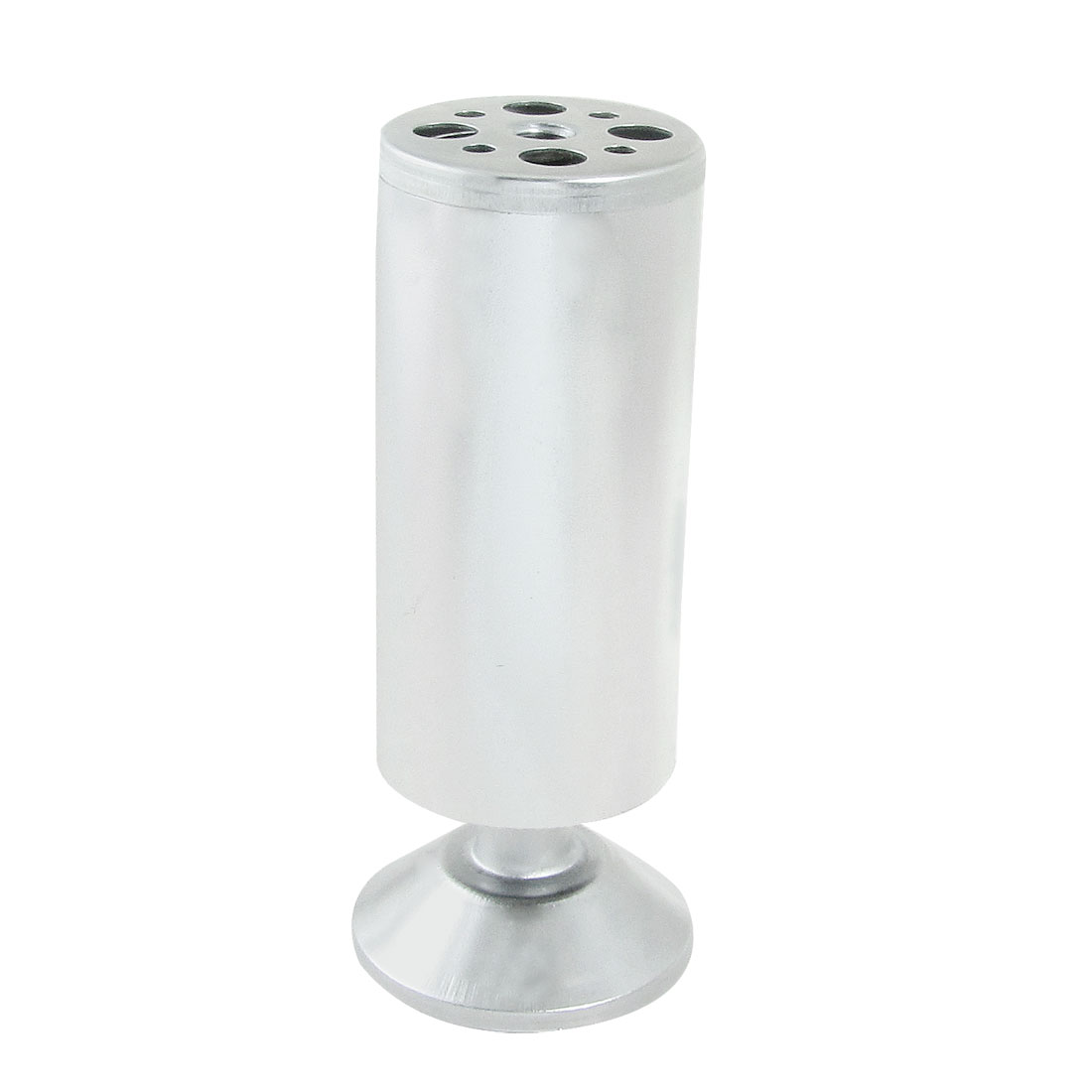 "Cupboard Wardrobe 2.3"" Diameter Silver Tone Alloy Foot"