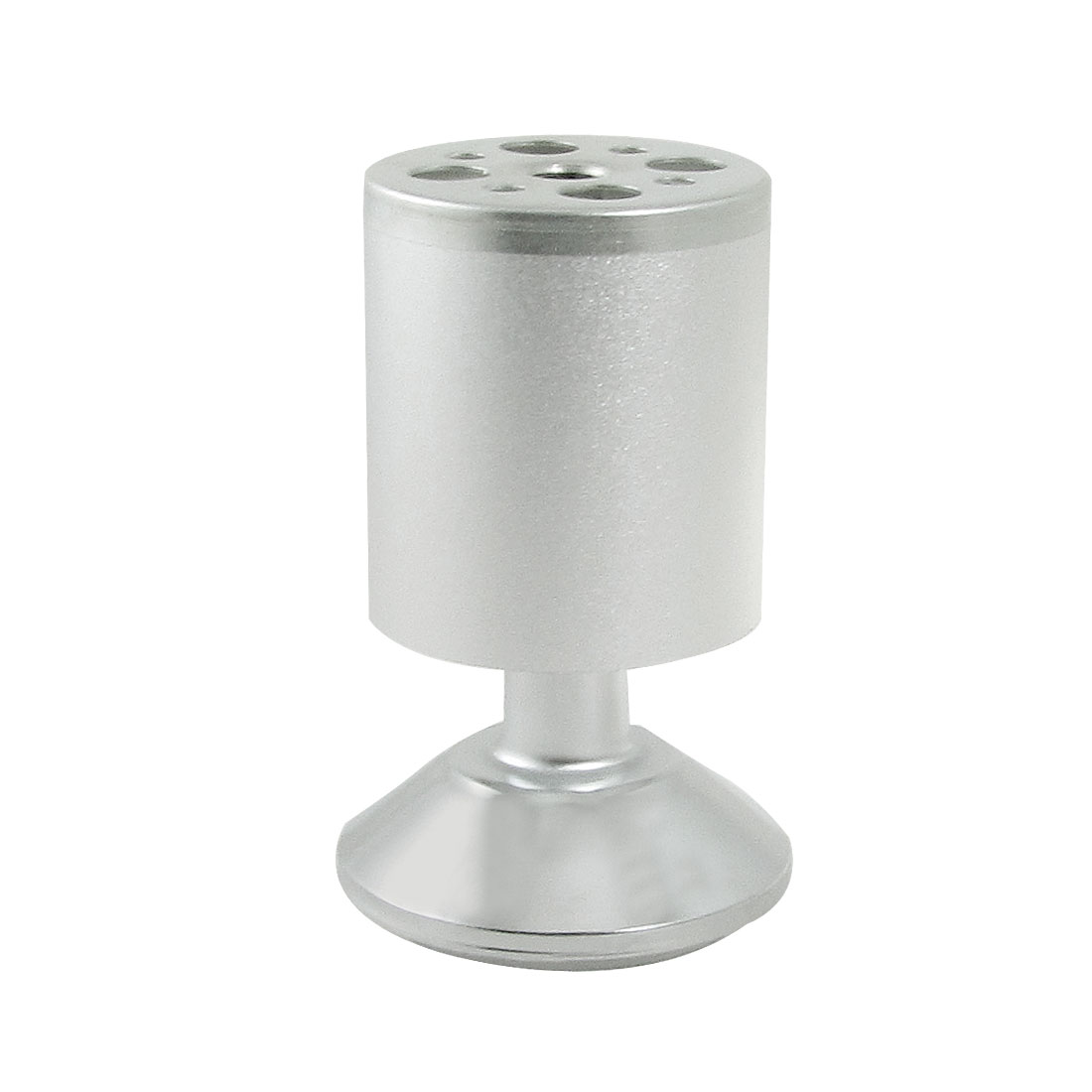 Sliver Tone Furniture Plastic Base 6cm x 9.5cm Feet Table Leg