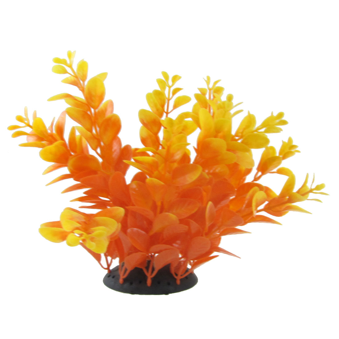 Fish Tank Aquarium Aquascaping Orange Red Plastic Plant Grass 6.9""