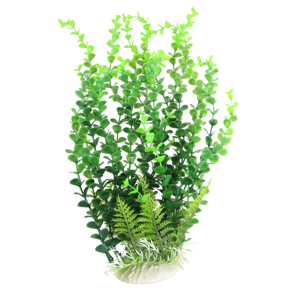 "Fish Tank Aquascape Plastic Simulated Plant Water Tree Grass 15.7"" Height Green"