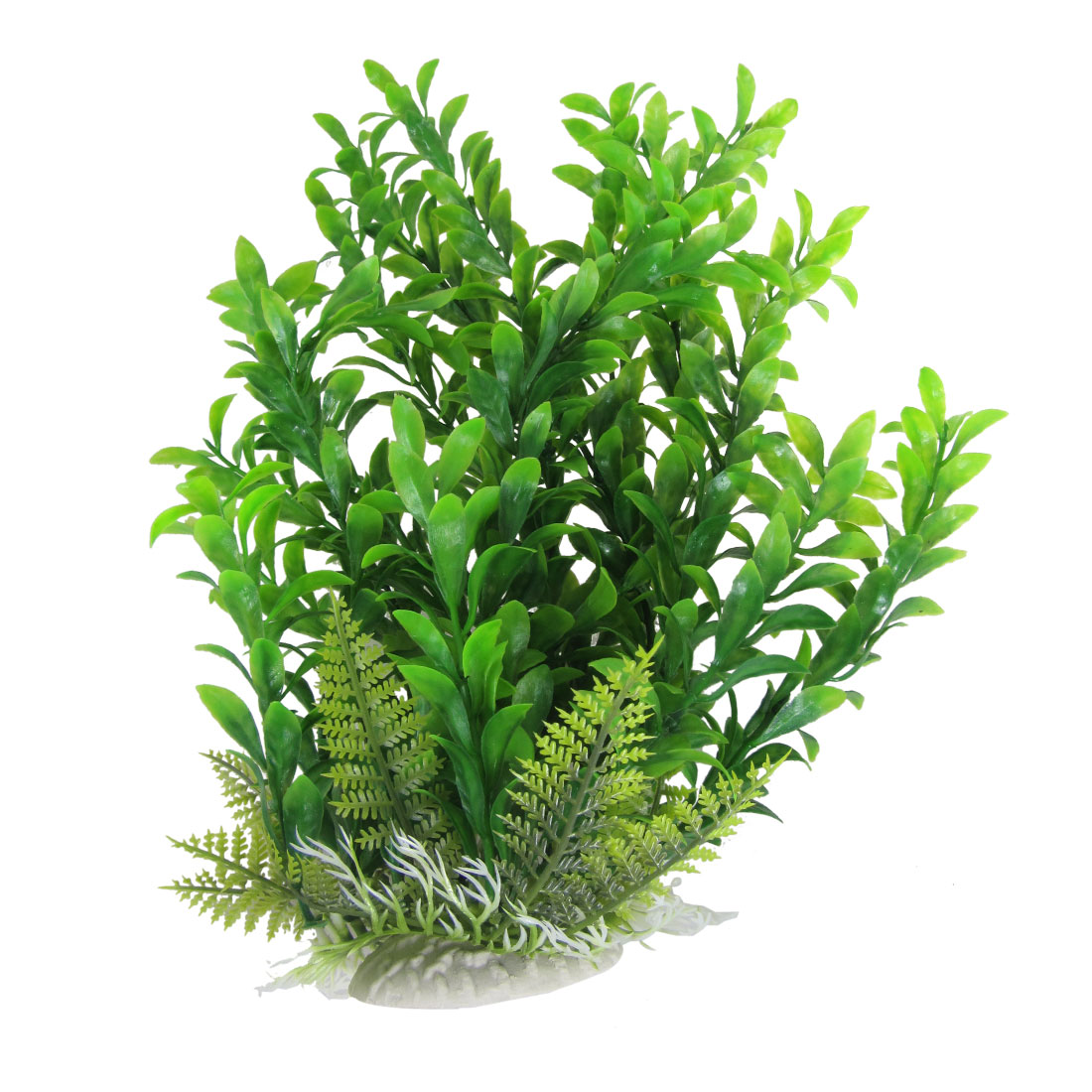 Fish Tank Aquarium Ornament Green Plastic Plant Grasses 13.6""