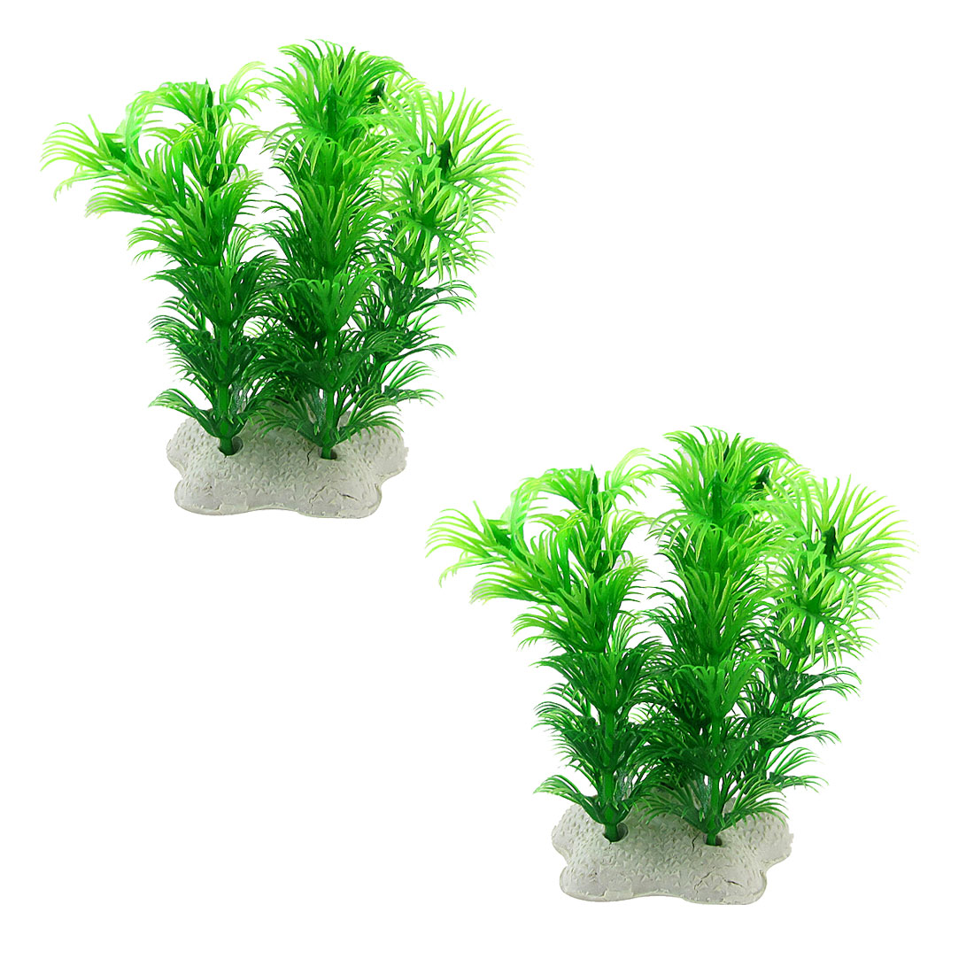 """3.5"""" Aquarium Fish Tank Aquascaping Green Plastic Plant 2 Pcs"""