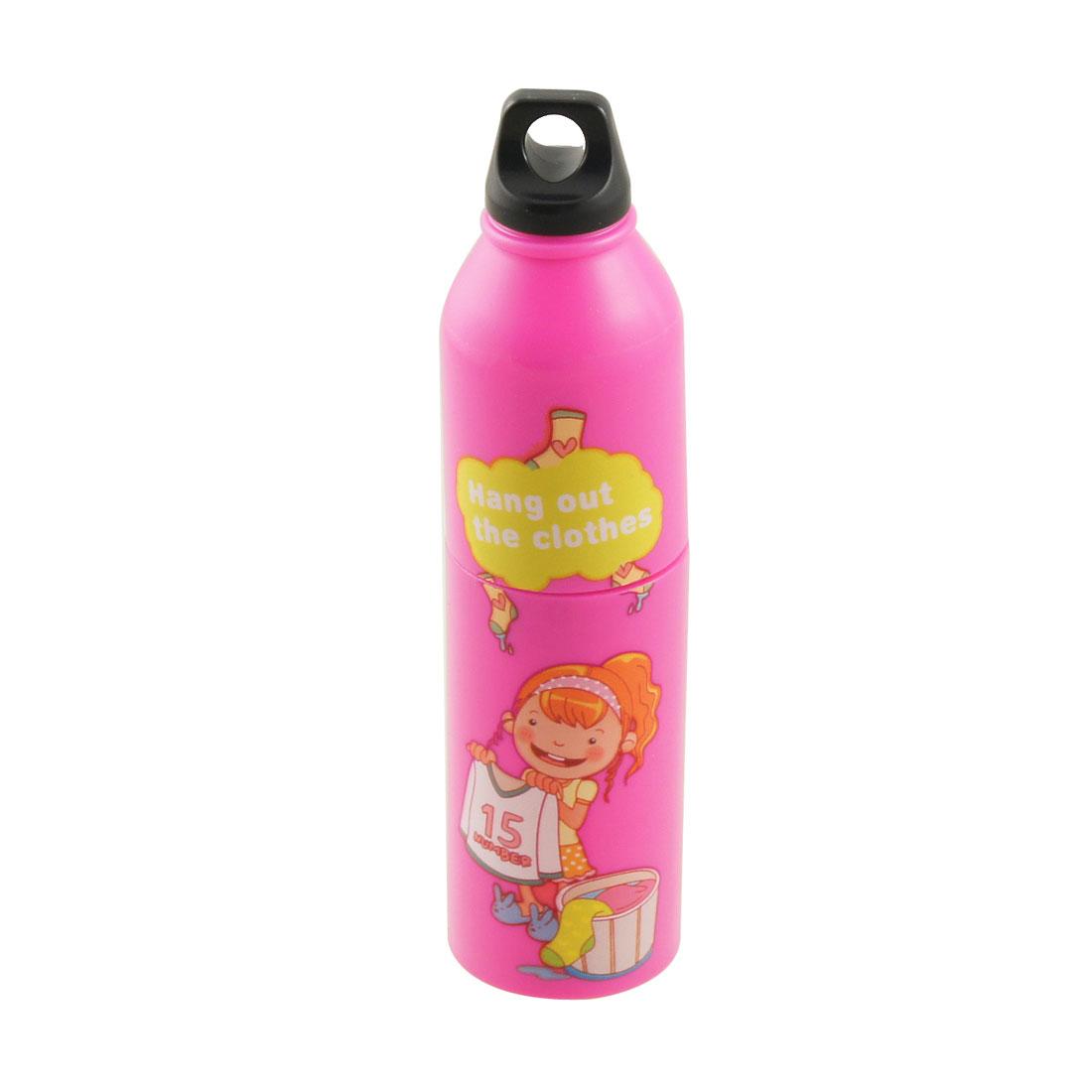 Travel Plastic Drinking Bottle Design Mini Pocket Cooling Fan Fuchsia