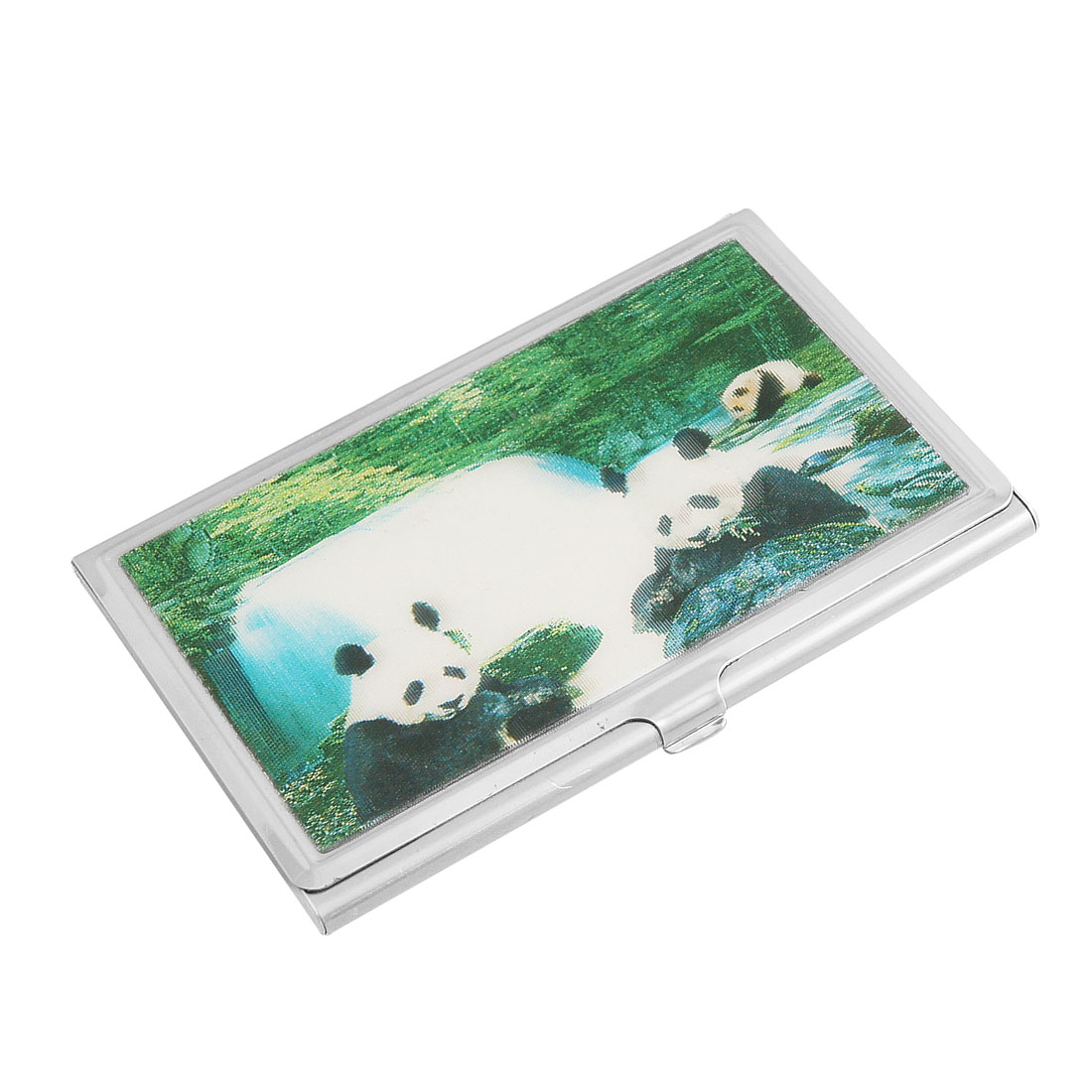 3D Panda Pattern Metal Business Name VIP Cards Organizer Holder