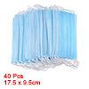 Light Blue Non Woven Fabric Oral Surgery Dental Disposable Face Mask 40 Pcs