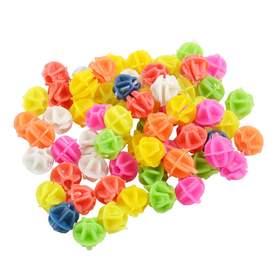 "Bike Bicycle Spoke Colorful 0.55"" Dia Plastic Beads Decor 94 Pcs"