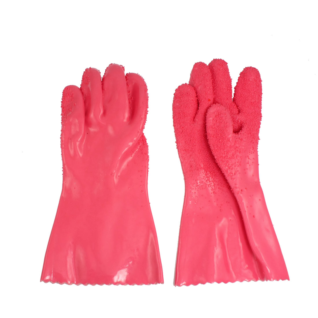 Pair Watermelon Pink Rubber Fruits Vegetables Peeling Gloves Mitts