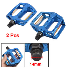2 Pcs Nonslip Blue Aluminum Alloy Pedals for MTB Bicycle Bike