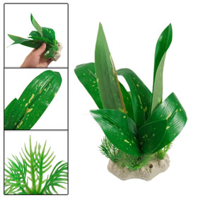"Aquarium 6.7"" High Artificial Green Bamboo Aquatic Plants Decor"
