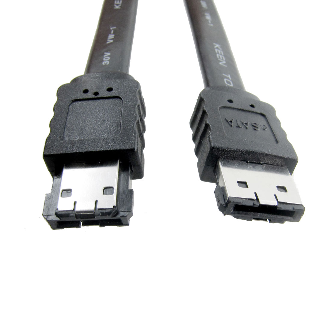 Black 2M 6.6Ft eSATA to eSATA 7-pin External Cable Cord