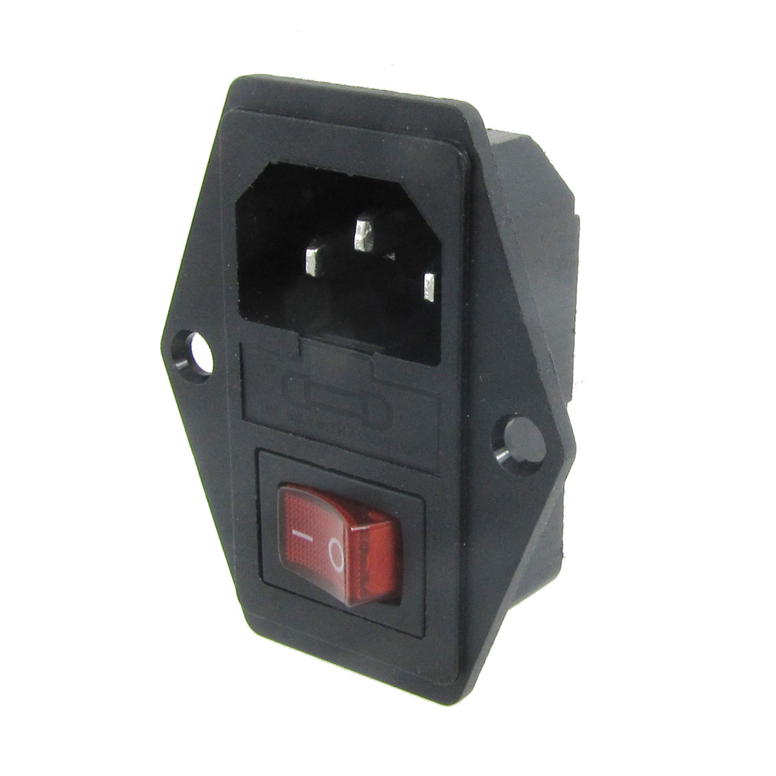 6A 250V AC Rocker Switch 3 Pole IEC320 C14 Inlet Module Fuse