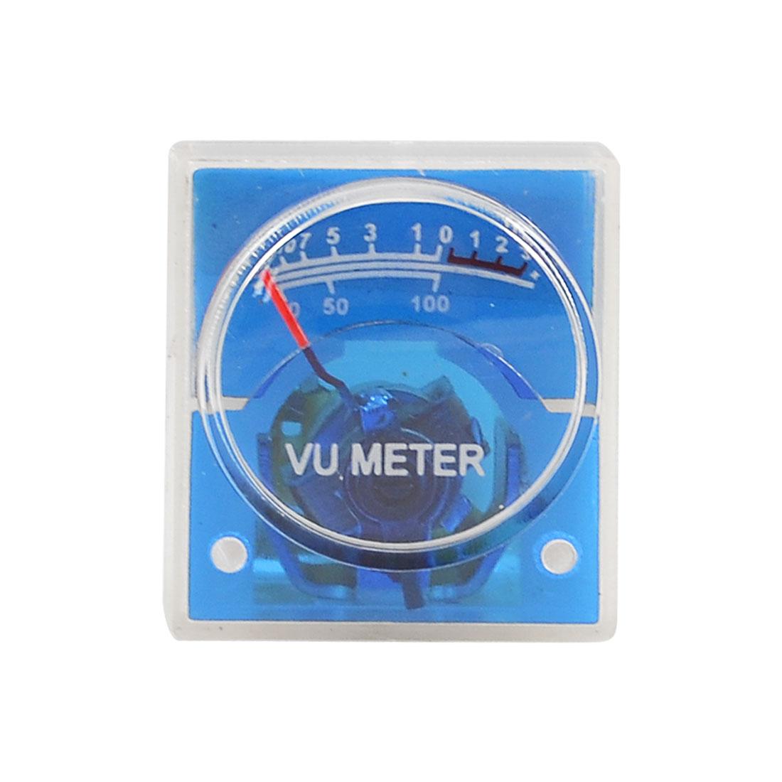 25mm x 28mm No Lamp Blue Mini DVD VU Meter 500uA 700 Ohm