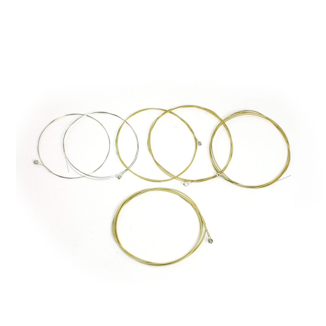 6 Pcs Gold Tone Steel Core MN10 Acoustic Guitar Strings Lines