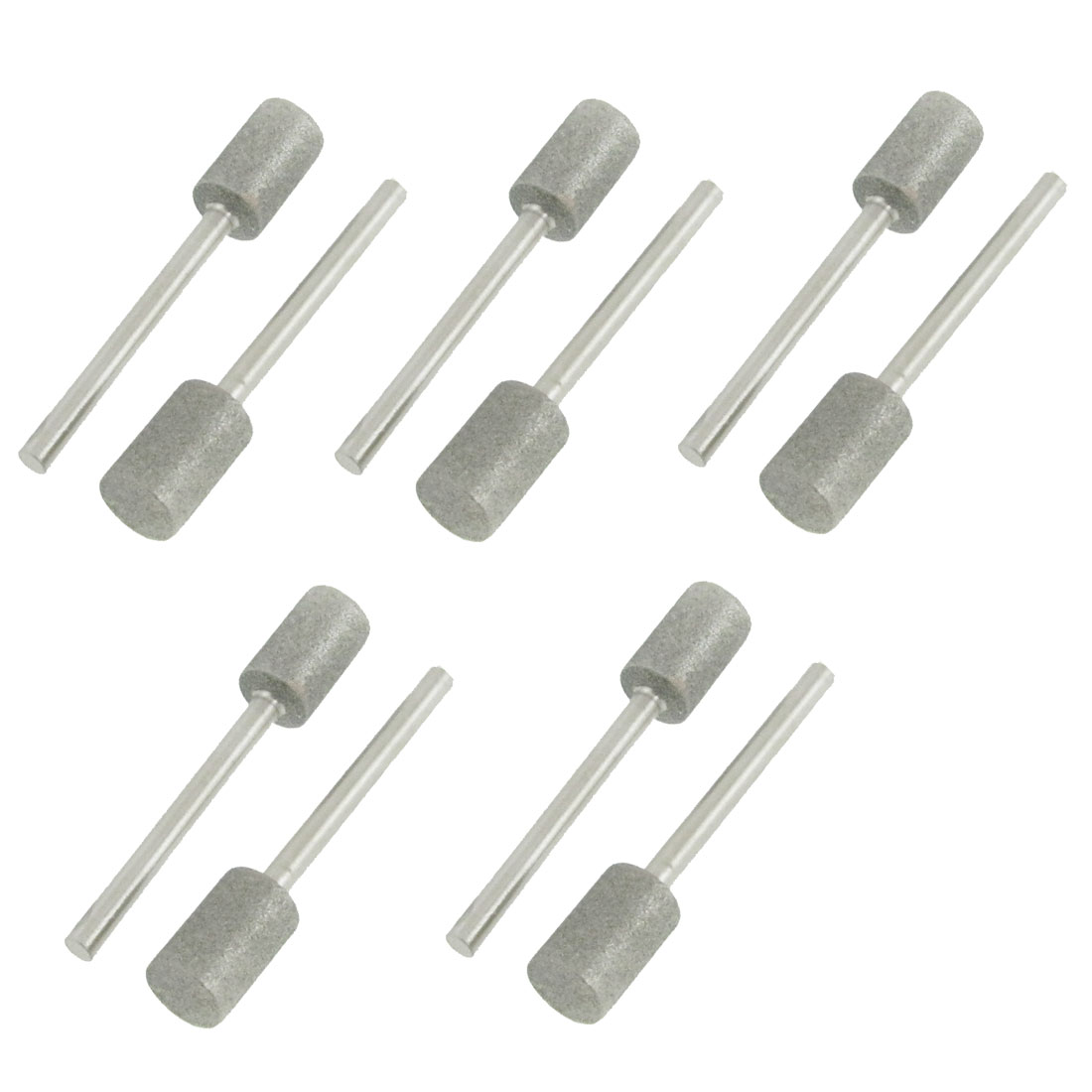 8mm Diameter Cylindrical Head Diamond Mounted Point 10 Pcs