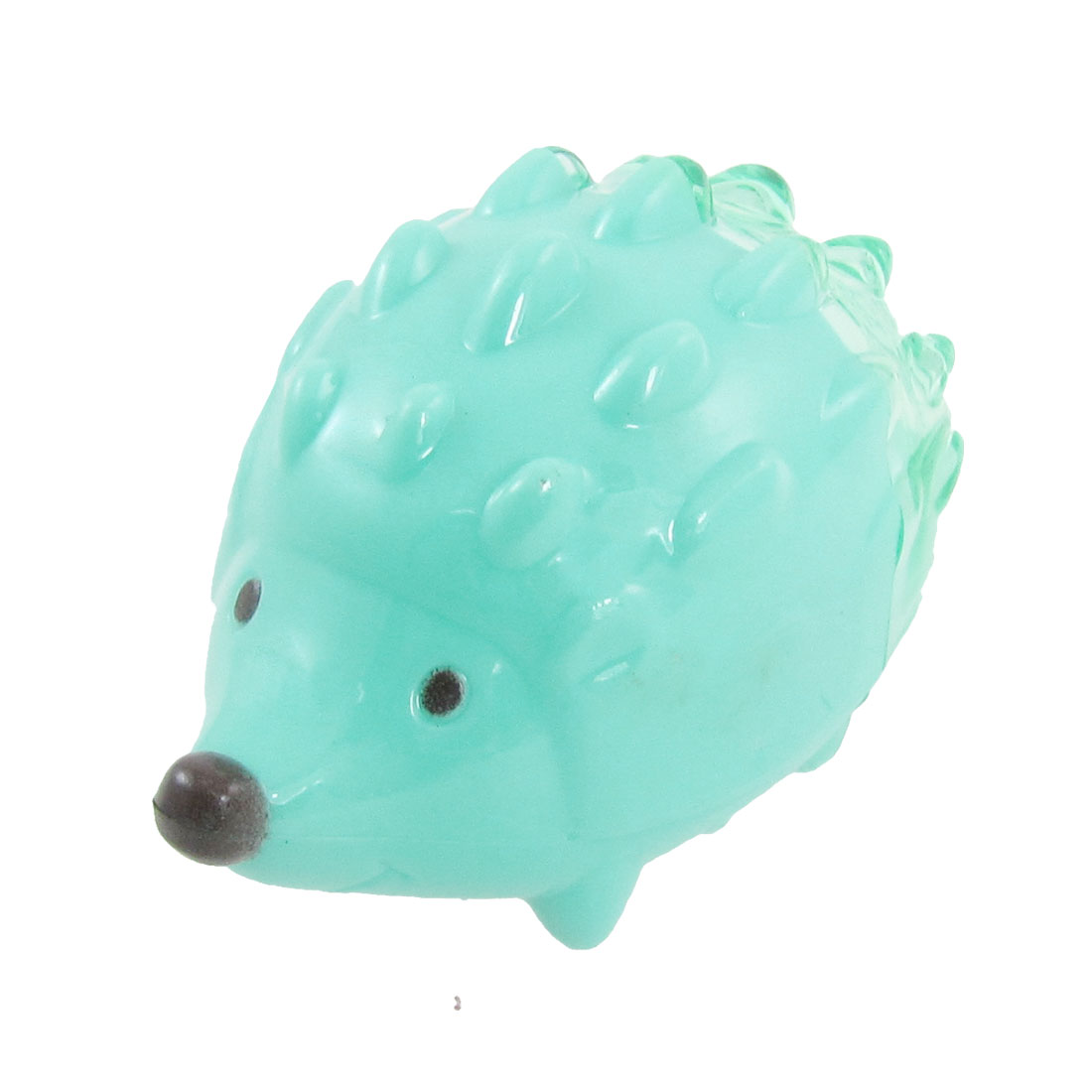Green 8mm Dia Double Hole Hedgehog Shaped Pencil Sharpener