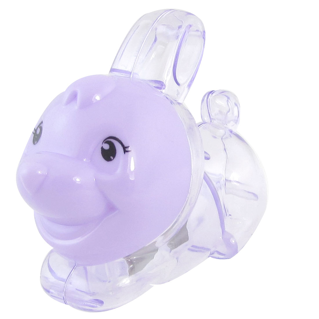 Purple Plastic Rabbit Design Pencil Sharpener for Students
