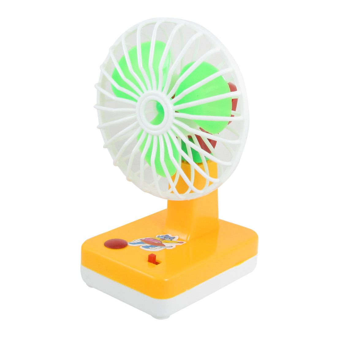 Battery Power Green Yellow Plastic Mini Summer Cooler Fan