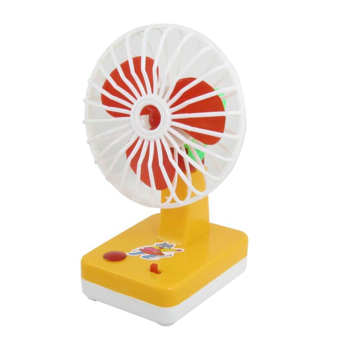 Battery Power Red Paddle Plastic Mini Summer Cooler Fan