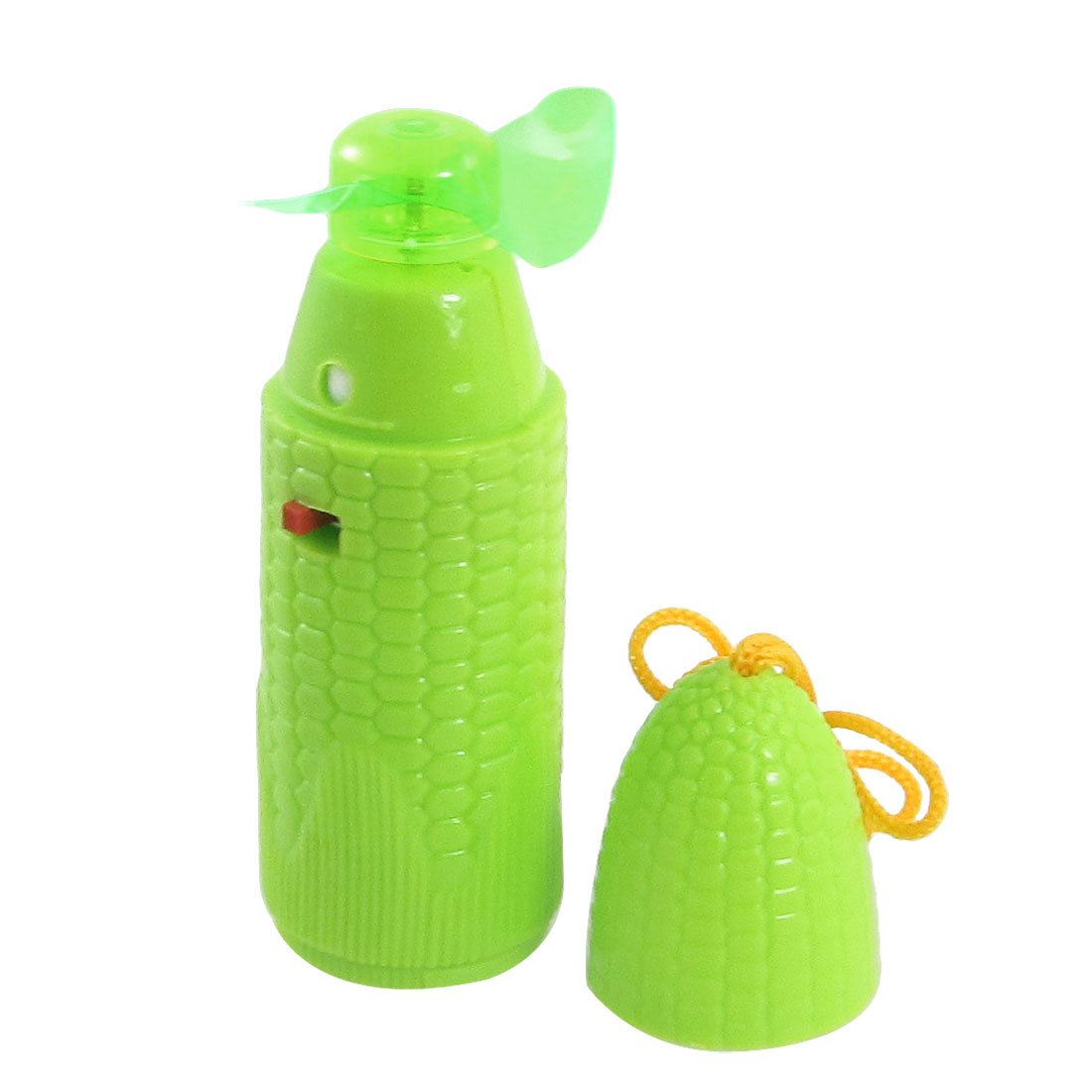 Portable Corn Shaped Battery Powered Mini Cooler Fan Green