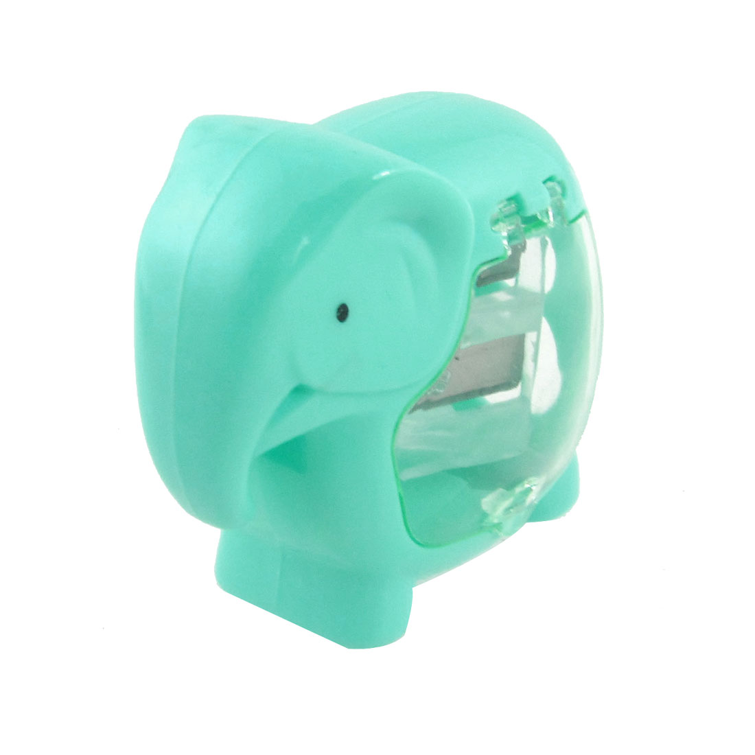 Dual Hole Plastic Green Elephant Shape Pencil Sharpener for Student