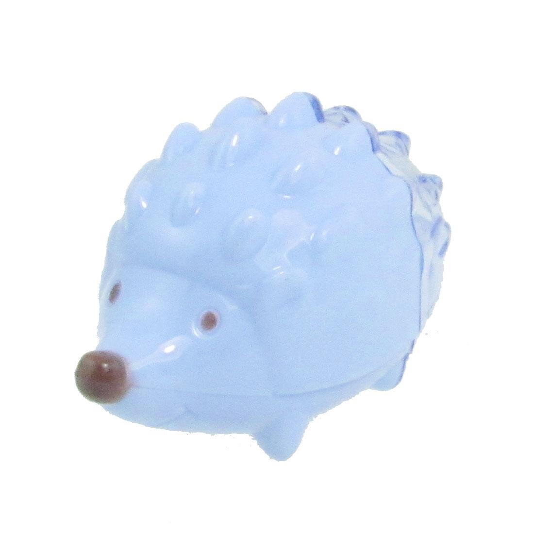 Blue Plastic Hedgehog Design Pencil Sharpener for Students