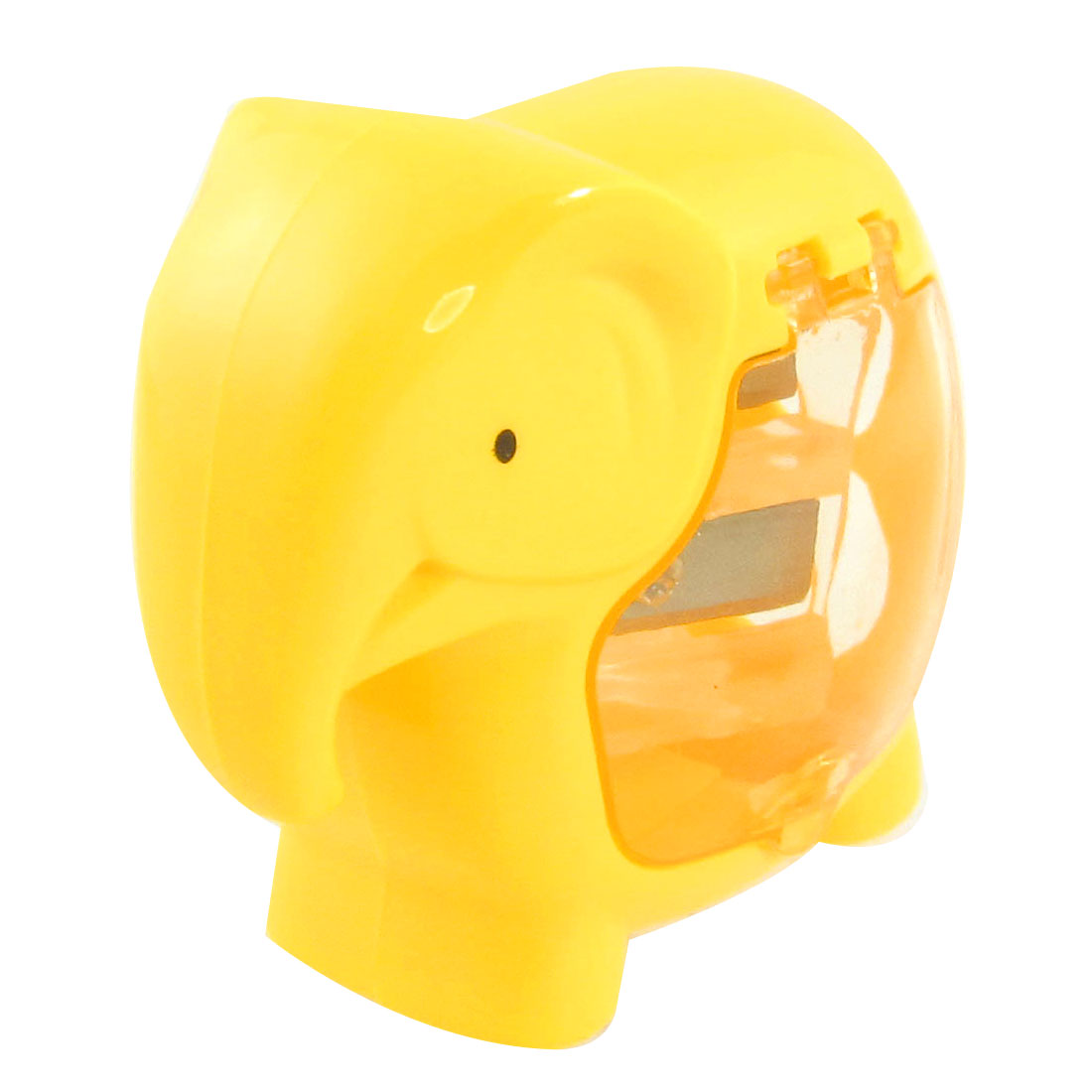 Yellow Elephant Design Double Hole Pencil Sharpener for Students