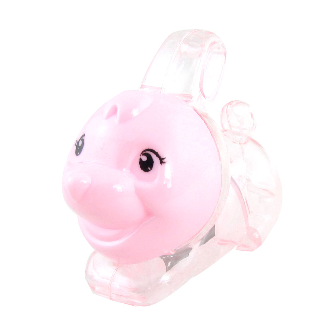 Pink Plastic Double Hole Rabbit Shaped Pencil Sharpener for Students