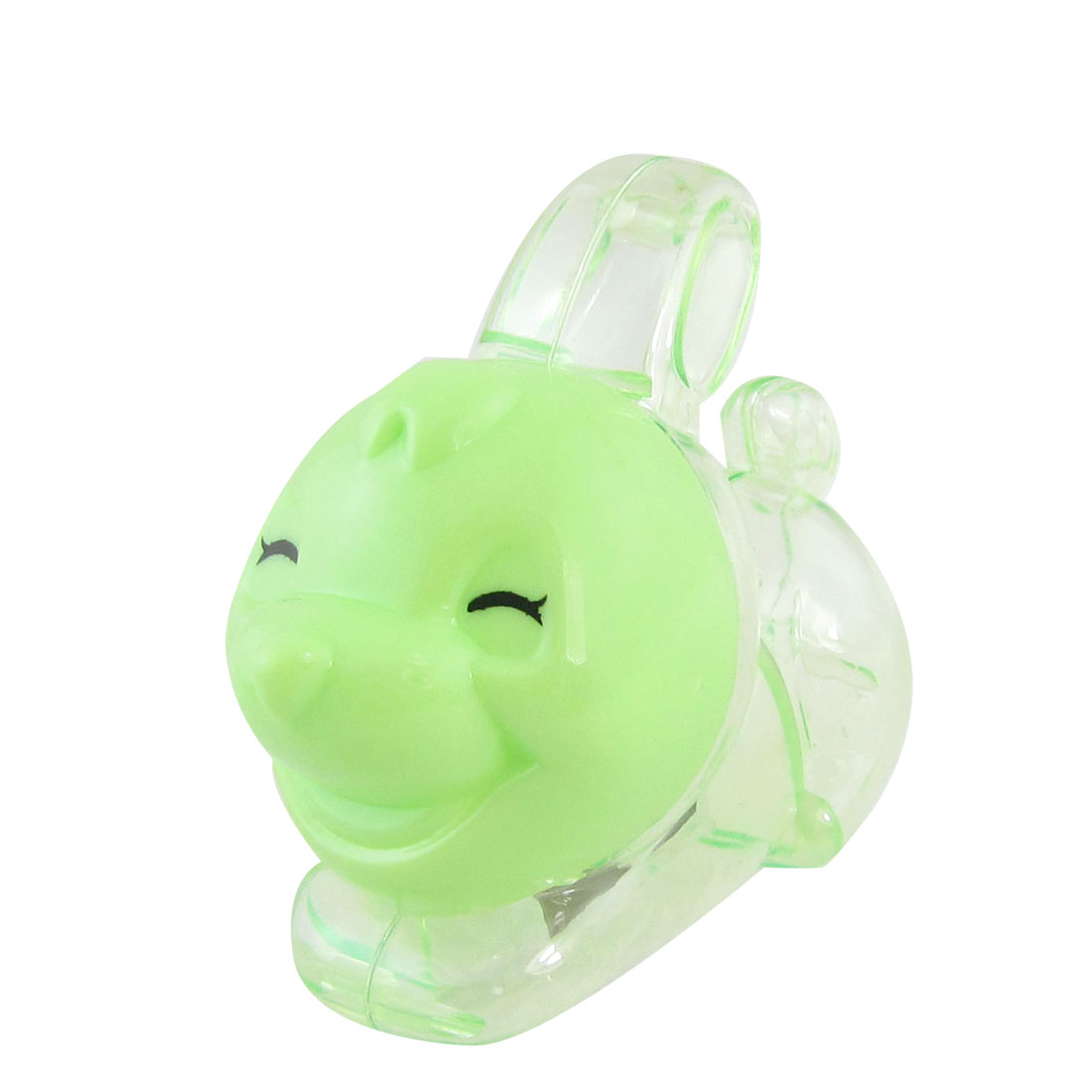 Green Plastic Double Hole Rabbit Shaped Pencil Sharpener for Students