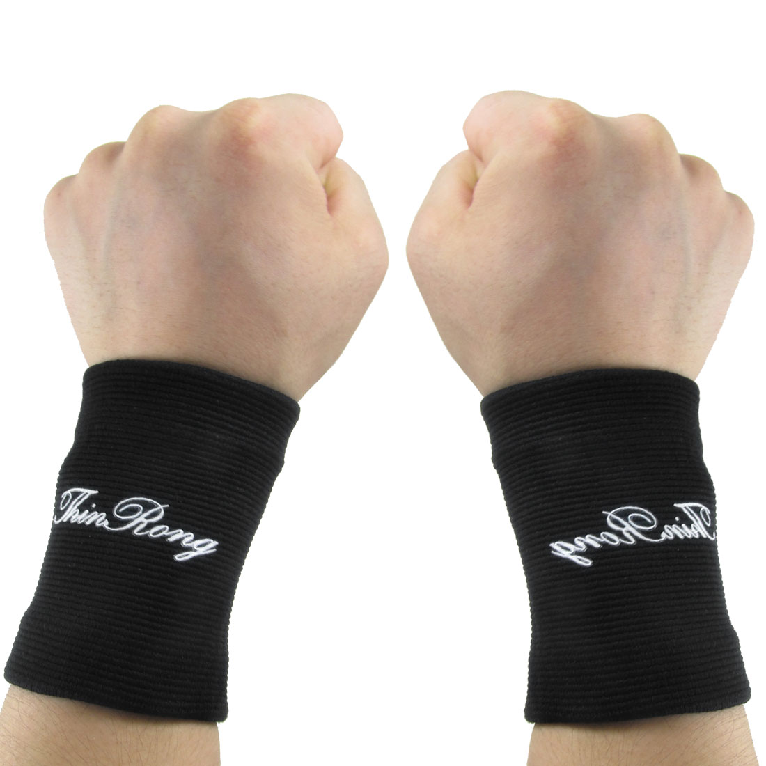1 Pair Volleyball Black Stretchy Protective Gear Wrist Support