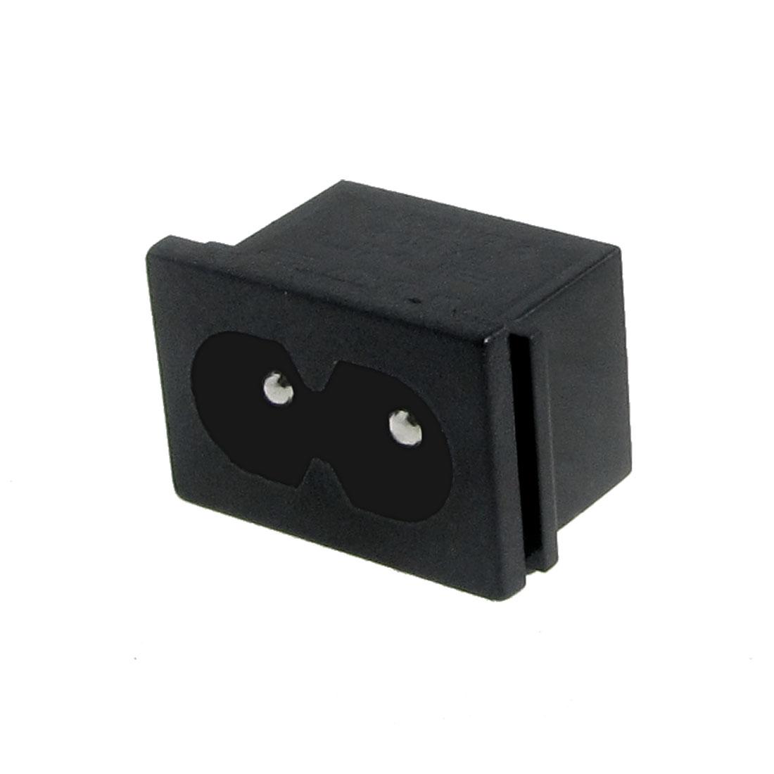2.5A 250V Male Plug IEC 320 C8 AC Power Socket Connector 10 Pcs