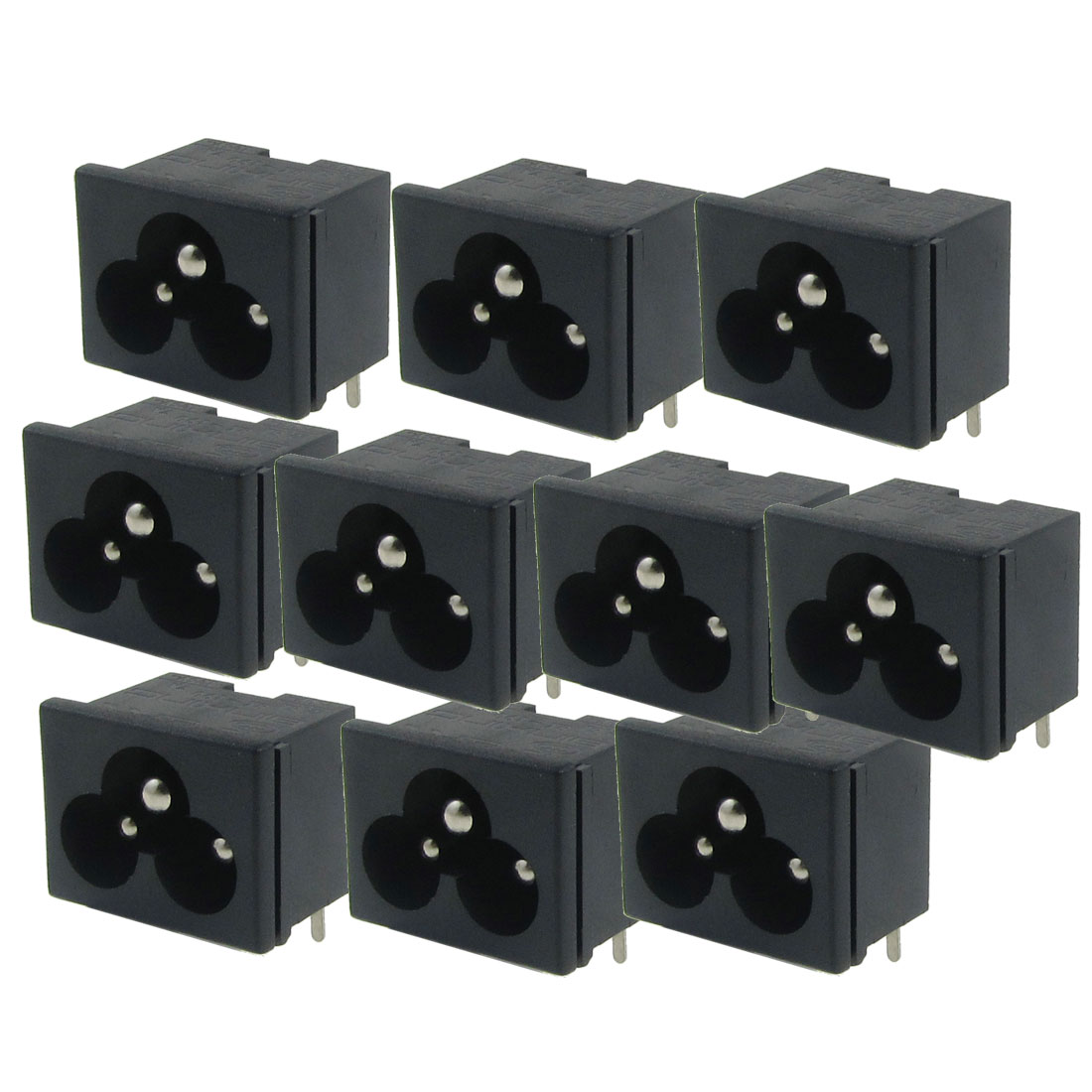 Electrical Black IEC C6 Power Supply AC 7A 125V Adapter 8 Pcs