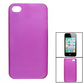 Clear Fuchsia Anti Scratch Hard Plastic Back Cover for iPhone 4 4G 4S 4GS