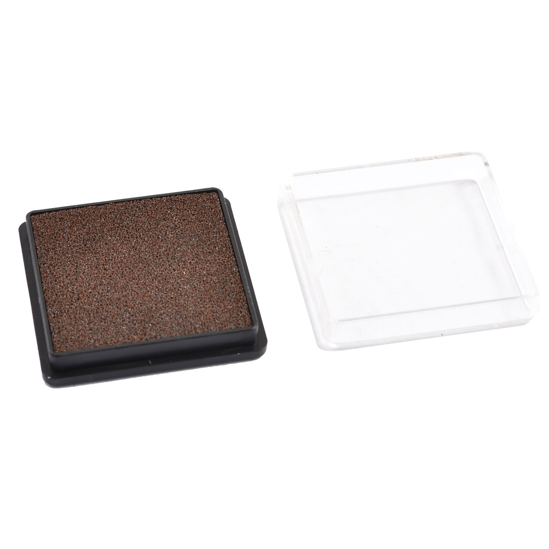 Stationery Square Casing Quick Drying Coffee Color Ink Stamp Pad